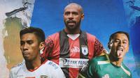Liga 1 - Fadhil Sausu, Boaz Solossa, Samsul Arif (Bola.com/Adreanus Titus)