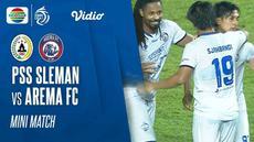 Berita video mini match PSS Sleman yang melakukan comeback saat menghadapi Arema FC pada pekan ketiga BRI Liga 1 2021/2022, Minggu (19/9/2021) malam hari WIB.