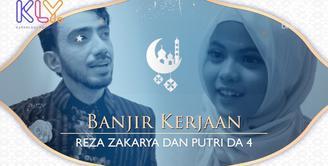 Tak mengurangi aktifitas, Reza Zakarya dan Putri D'Academy tetap sibuk saat puasa