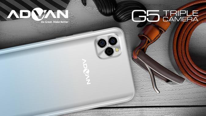 Advan G5, smartphone lokal yang didesain memiliki tiga kamera utama (Foto: Advan)