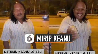 Beredar video seorang pria mirip artis Keanu Agl viral di media sosial.