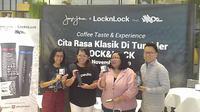 Peluncuran tumbker Kopi Janji Jiwa dan Lock&Lock. (Liputan6.com/Henry)