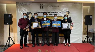 Waringin Hospitality (WH) Group membagikan tabungan Beasiswa tahap ke 5 kepada siswa – siswi pemenang Best Trainee 2021.