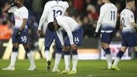 Tottenham Hotspur tersingkir dari Piala FA setelah takluk 0-2 dari Crystal Palace, di Selhurst Park, London, Minggu (27/1/2019). (AP Photo/Tim Ireland)