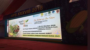 Puncak peringatan Hari Pangan Sedunia 2018 hari ini, 18 Oktober 2018 digelar di Desa Jejangkit, Kalimantan Selatan. (FAO Indonesia)