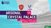 Premier League - Arsenal Vs Crystal Palace (Bola.com/Adreanus Titus)