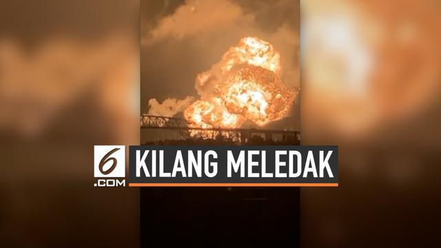 Sebuah kilang minyak di Philadephia, AS terbakar hebat. Momen meledaknya kilang terekam kamera seorang warganet. Kilang ini diklaim yang terbesar di pantai timur AS.