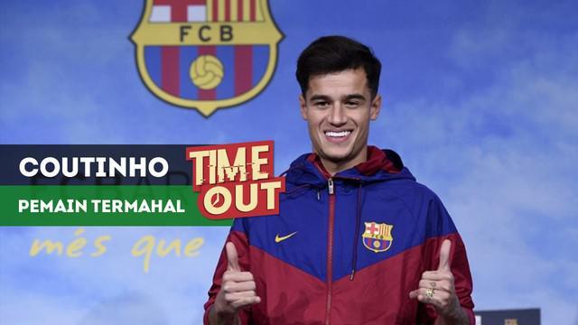 Kepindahan Philippe Coutinho ke Barcelona membuat dirinya menjadi pemain termahal ketiga di dunia.