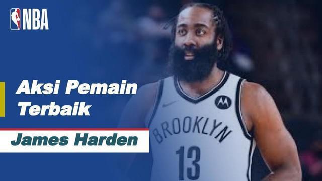 Berita video pemain terbaik NBA hari ini, Jumat (19/2/2021) WIB, yaitu pemain dari Brooklyn Nets, James Harden.