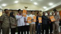 KPU Jawa barat mengumumkan penetapan calon peserta Pemilihan Gubernur (Liputan6.com/Huyogo Simbolon)