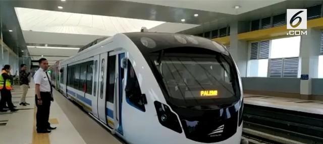 Kereta api ringan atau light rail trainset (LRT) Palembang, Sumatera Selatan resmi beroperasi secara komersial mulai hari ini,  Rabu (1/8/2018)