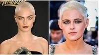 Selebriti yang pernah memotong habis rambutnya alias botak. (Sumber: Brightside)