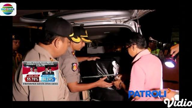 Sopir dan kurir berikut mobil serta petasan langsung diamankan petugas ke sektor Jatibarang.