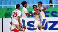 Philip Younghusband dkk. akan menjamu Korea Utara dalam uji coba jelang Piala AFF 2016, Senin (10/10/2016). (Bola.com/FIFA)