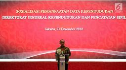 Dirjen Dukcapil Zudan Arif Fakrulloh usai penandatanganan kerja sama pemanfaatan data Ditjen Dukcapil dengan 104 pelaku industri pasar modal, Jakarta, Jumat (21/12). Kerja sama ini untuk mempercepat pembukaan rekening investasi. (Liputan6.com/JohanTallo)