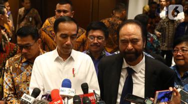 Surya Paloh Sambut Jokowi di HUT Nasdem