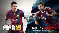 Menurut reviewer situs GameSpot, Eddie Makuch, FIFA 15 maupun PES 2015 memiliki karakter gameplay yang berbeda.