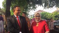 Gubernur DKI Jakarta Anies Baswedan dan istrinya datang ke acara pernikahan putri Presiden Jokowi, Kahiyang Ayu dan Bobby Nasution.