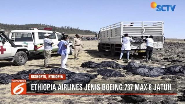 Pesawat jatuh setelah lepas landas dari Bandara Internasional Bole, Ibu Kota Addis Ababa, pukul 08.38 waktu setempat.