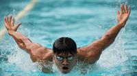 Pada Olimpiade 2016 Rio de Janeiro, perenang Indonesia, Glenn Victor, akan turun pada nomor 100 meter gaya kupu-kupu. (Bola.com/Vitalis Yogi Trisna)