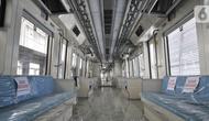 Kondisi interior kereta Light Rail Transit (LRT) Jabodebek di Stasiun Harjamukti, Depok, Jawa Barat, Minggu (13/10/2019). Rangkaian kereta LRT Jabodebek diproduksi oleh PT INKA di Madiun dengan komponen 60 persen buatan dalam negeri. (merdeka.com/Iqbal S. Nugroho)