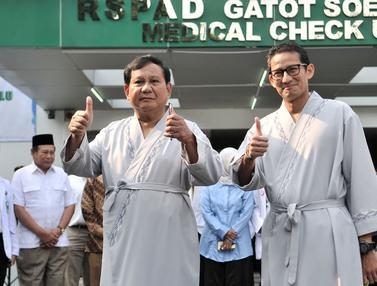 Prabowo Subianto dan Sandiaga Uno Tes Kesehatan