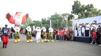 Parade Momo, maskot Asian Para Games 2018 di Monas. (Humas Kemensos)