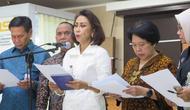Ketua Pansel Capim KPK Yenti Ganarsih mengumumkan hasil uji kompetensi, Senin  (22/7/2019).(Liputan6.com/ Lizsa Egeham)