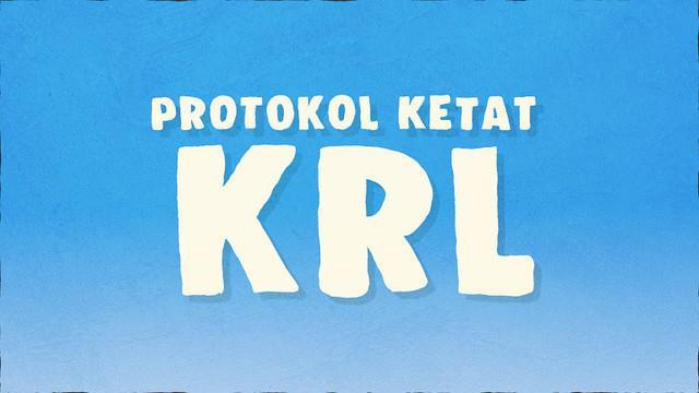 PT Kereta Commuter Indonesia (KCI) yang mewajibkan penumpang menaati protokol baru di kereta rel listrik (KRL).