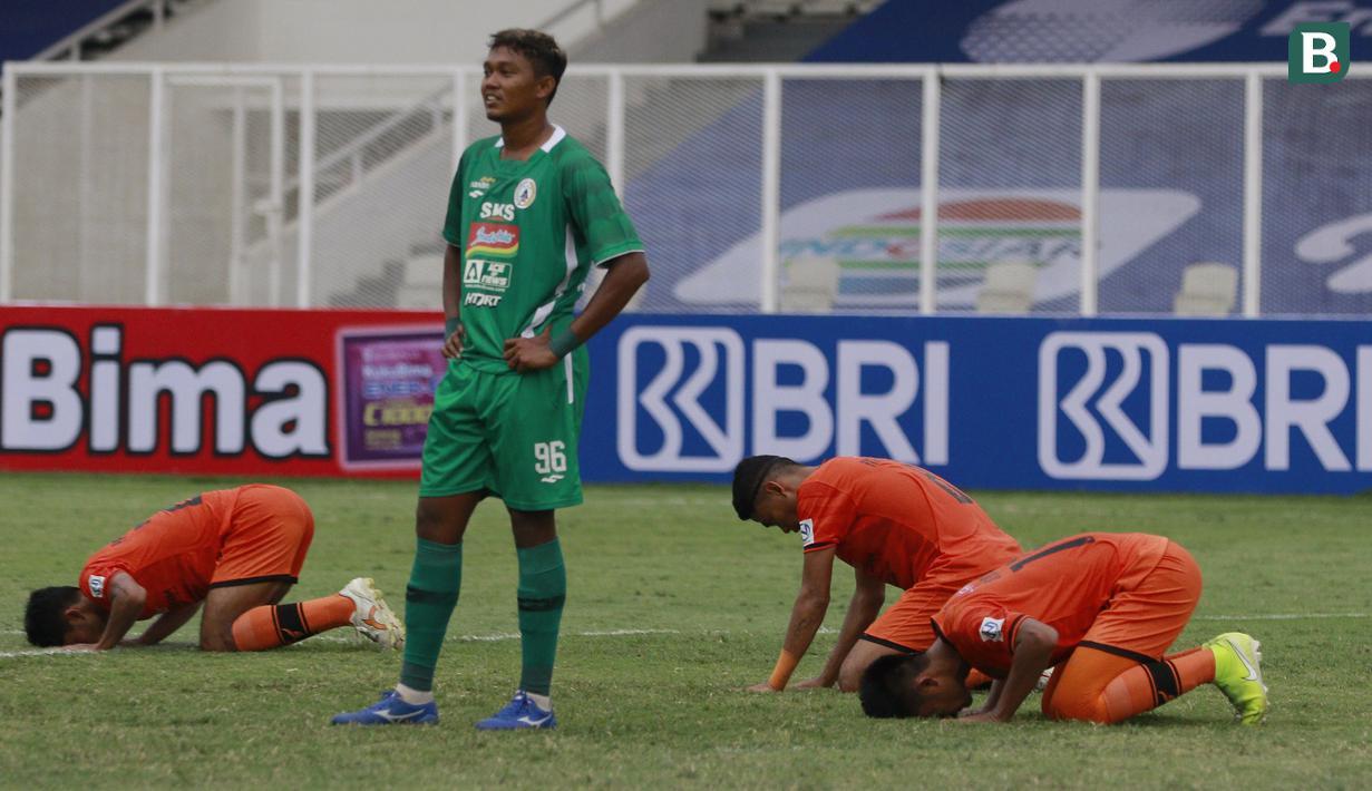 Persiraja Banda Aceh menang secara dramatis 3-2 atas PSS Sleman dalam laga pekan kedua BRI Liga 1 2021/2022 di Stadion Madya, Jakarta, Sabtu (11/9/2021). Sempat tertinggal 1-2, Persiraja mampu mebalikkan keadaan lewat dua gol dari Paulo Henrique. (Foto: Bola.Com/M. Iqbal Ichsan)