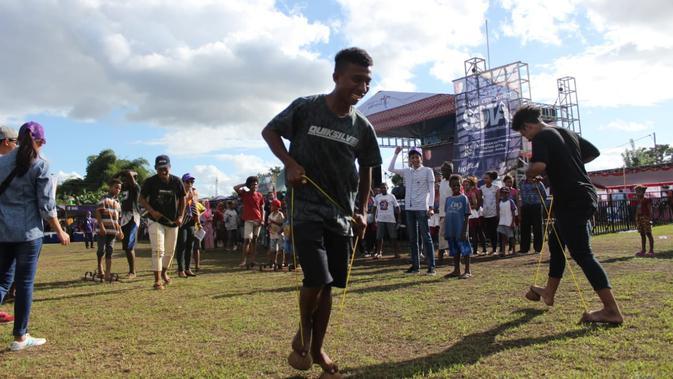 Tren Gaya Hidup Seru Permainan Tradisional Bawa Keceriaan Di Festival Crossborder Sota
