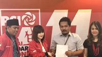 Topan Pratama bertemu Grace Natalie di DPP PSI