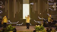Airlangga Hartarto pada acara HUT ke-56 Partai Golkar di Hutan Kota Plataran Kompleks GBK Senayan, Jakarta, Sabtu 24 Oktober 2020. (Foto: dokumentasi Golkar)