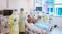 Seorang pria asal Singapura harus merayakan Idul Fitri dari ruangan ICU lantaran masih dirawat karena terinfeksi Virus Corona COVID-19. (Dok: Ng Teng Fong General Hospital)