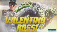 MotoGP - Ilustrasi Valentino Rossi (Bola.com/Adreanus Titus)