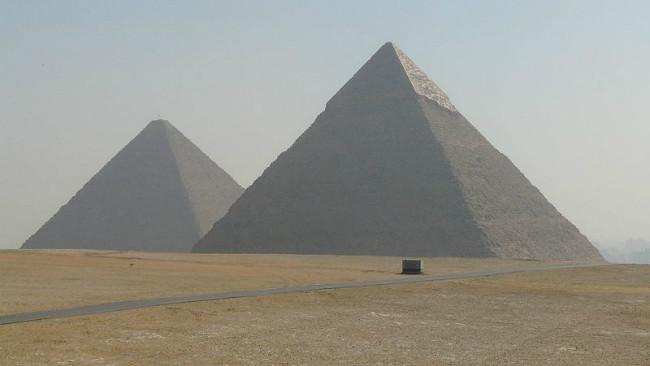 Piramida Giza di Mesir. (Sumber (Wikimedia/Kurohito)