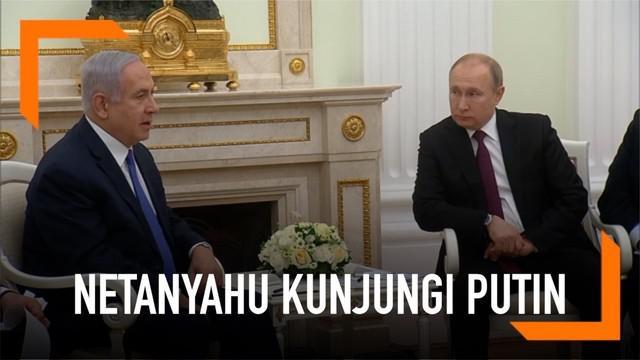 Jelang pemilu di Israel, Benjamin Netanyahu mengunjungi Vladimir Putin di Moskow, Rusia.