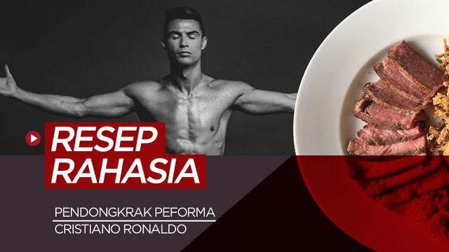Berita video rahasia menu pendongkrak peforma Cristiano Ronaldo.