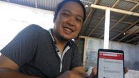 Aplikasi Pantau Bersama yang diinisiasi vokalis band Letto memberikan informasi mengenai calon presiden dan wakil presiden. (Liputan6.com/Switzy Sabandar)