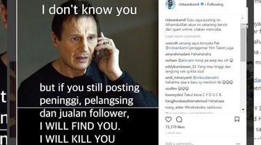 Wali Kota Bandung, Ridwan Kamil punya cara unik untuk mengusir penjual online dari Instagramnya.