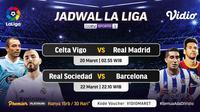 Pertandingan Liga Spanyol pekan ke-28 dapat disaksikan melalui platform streaming Vidio. (Dok. Vidio)