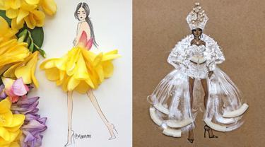 Wanita Ini Pakai Bunga Asli Sebagai Desain Baju, 7 Hasilnya Bikin Takjub