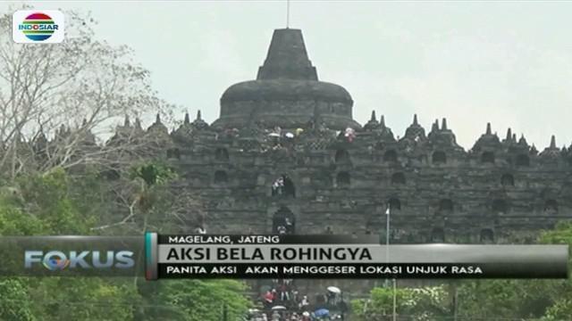 Batal digelar di kawasan Candi Borobudur, aksi bela Rohingya digelar di Masjid An-Nur.