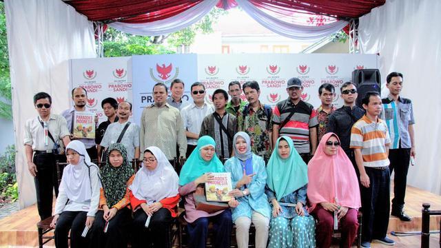 Peluncuran Buku Karangan Prabowo Dalam Edisi Braille, Bentuk Totalitas Gerindra Dukung Penyandang Disabilitas