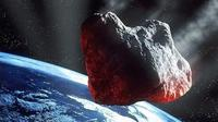 Ilustrasi artis tentang asteroid yang berpotensi berbahaya menuju Bumi. (Kredit: ESA)