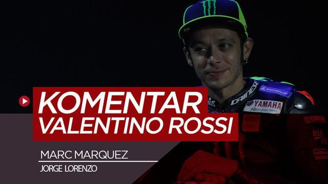 Berita video pembalap tim Monster Energy Yamaha, Valentino Rossi, melontarkan komentar soal duet di tim Repsol Honda, Marc Marquez dan Jorge Lorenzo.
