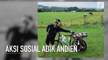 Adik Andien melakukan aksi sosial dengan bersepeda dari Belanda ke Indonesia.