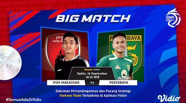 PSM Makassar vs Persebaya Surabaya Sabtu, 18 September 2021