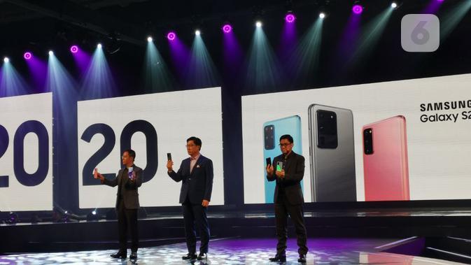 Peluncuran Galaxy S20 series dan Galaxy Z Flip di Jakarta, Rabu (4/3/2020).