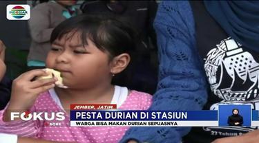 Promo libur akhir pekan, PT KAI gelar pesta durian di Stasiun Jember. Tapi, ada syaratnya lho, apa itu?